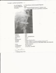 L1 Burst fracture