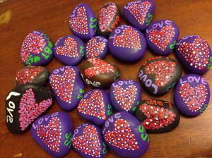 Painted Love rocks