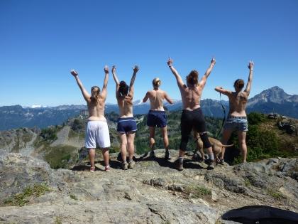 Mt Dickerman facing Glacier Peak